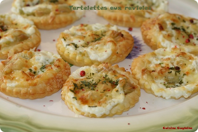 mini tartelettes aux ravioles du dauphin 233 recette flexipan cuisine guylaine