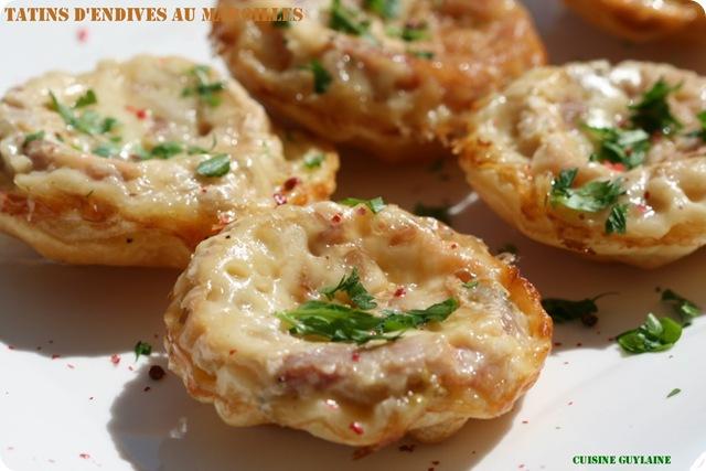 tatins d'endives au maroilles (recette flexipan)^^ - cuisine guylaine